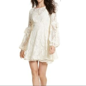 EUC Cream Free People Long-Sleeved Ruby Lace Dress